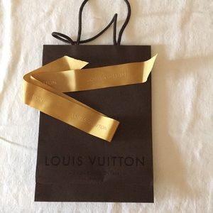 Louis Vuitton gift bag and ribbon